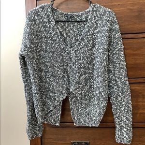 Black and white cropped sweater from Express